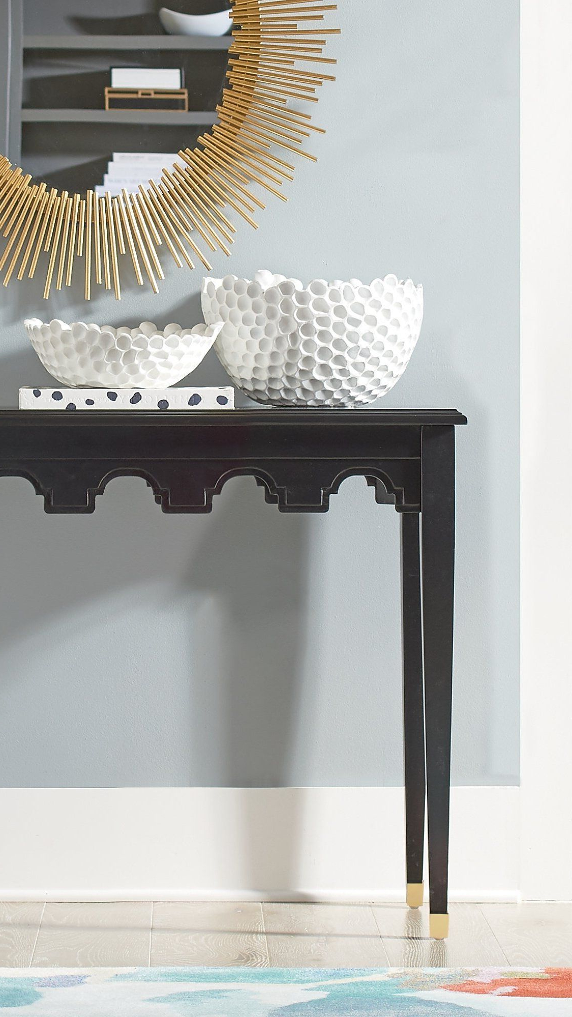 A Console With A Big Style Difference (Nothing Ordinary Here), Our With Regard To Trendy Brynn Accent Mirrors (View 1 of 20)