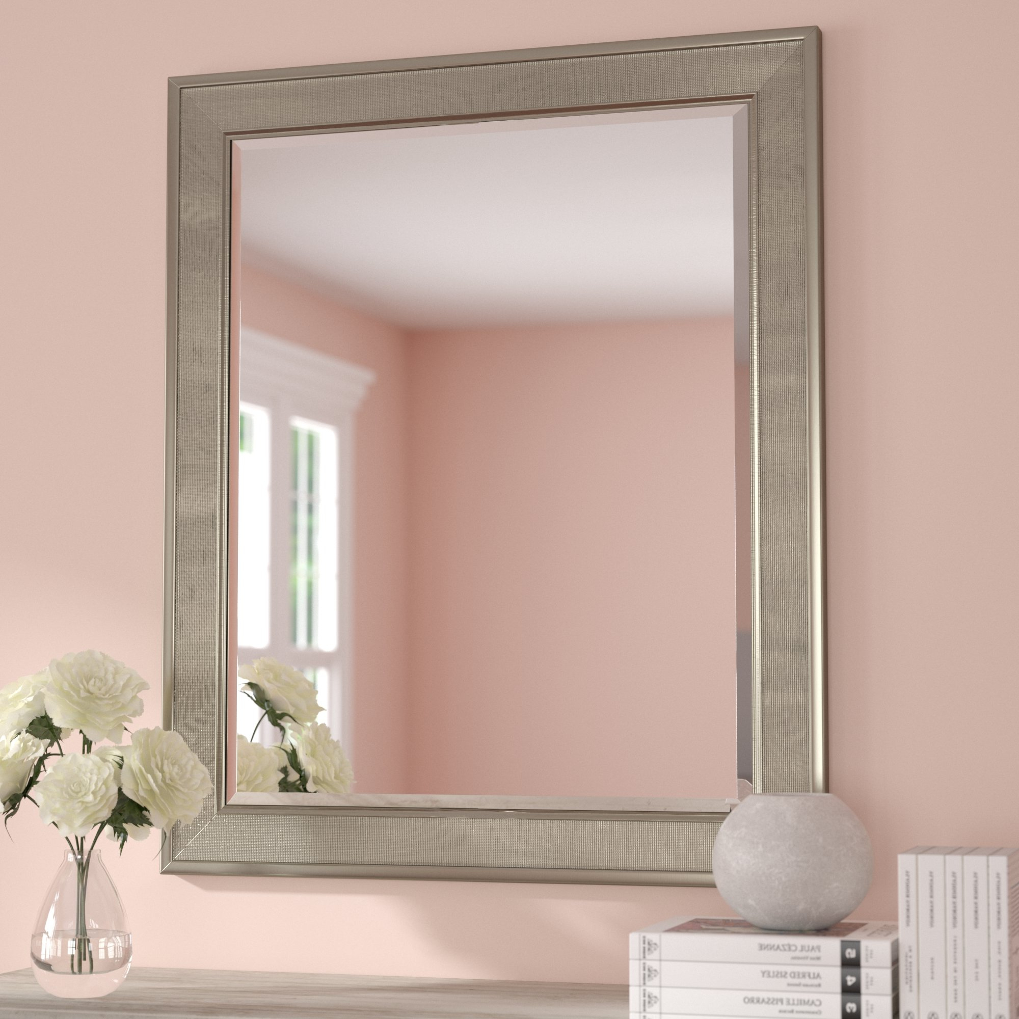 Abdul Accent Mirrors Regarding Most Recently Released Mateer Pave Beveled Accent Mirror (View 4 of 20)