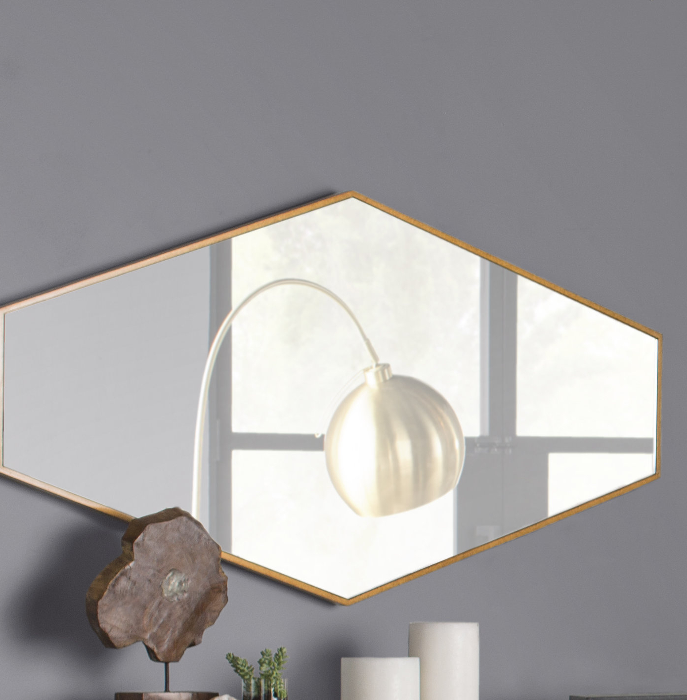 Accent Mirror With Regard To 2019 Padang Irregular Wood Framed Wall Mirrors (View 3 of 20)