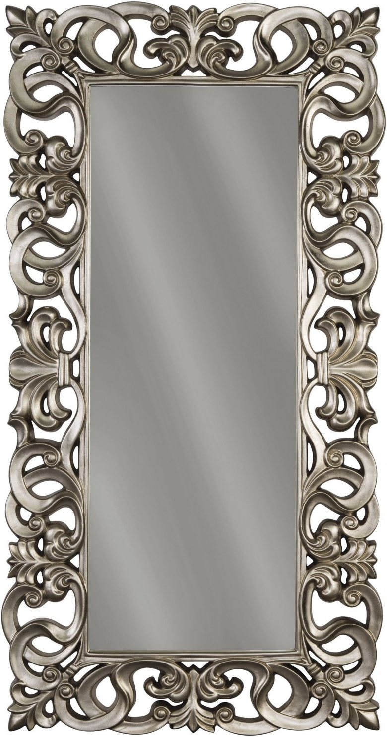 Accent Mirrors Within Famous Lucia Antique Silver Accent Mirror (View 17 of 20)