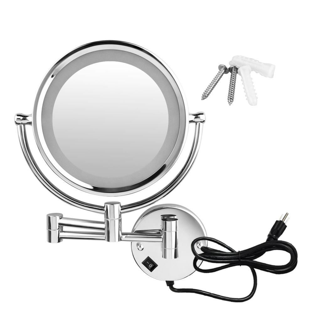 Accessories: Great Cosmetic Mirrorsmagnifying Mirror Pertaining To Most Popular Magnified Wall Mirrors (View 2 of 20)