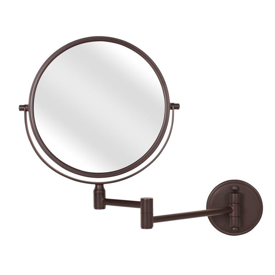 Accordion Wall Mirrors In Favorite Giagni Bronze Zinc Magnifying Wall Mounted Vanity Mirror At Lowes (View 6 of 20)