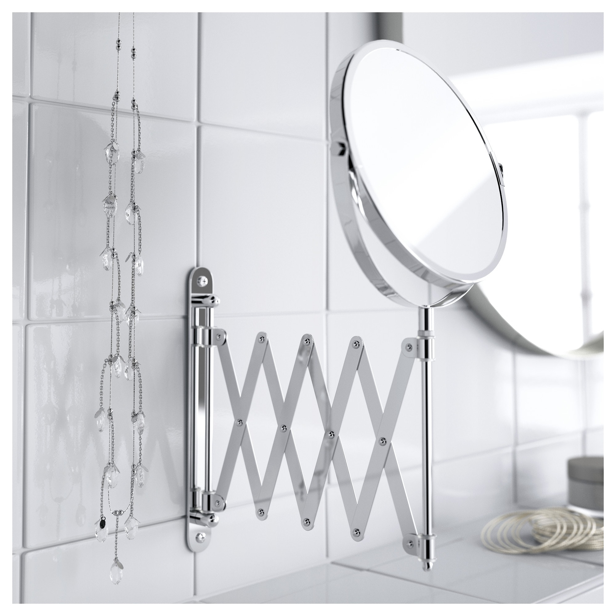 Accordion Wall Mirrors Throughout 2020 Fräck – Mirror, Stainless Steel (View 5 of 20)