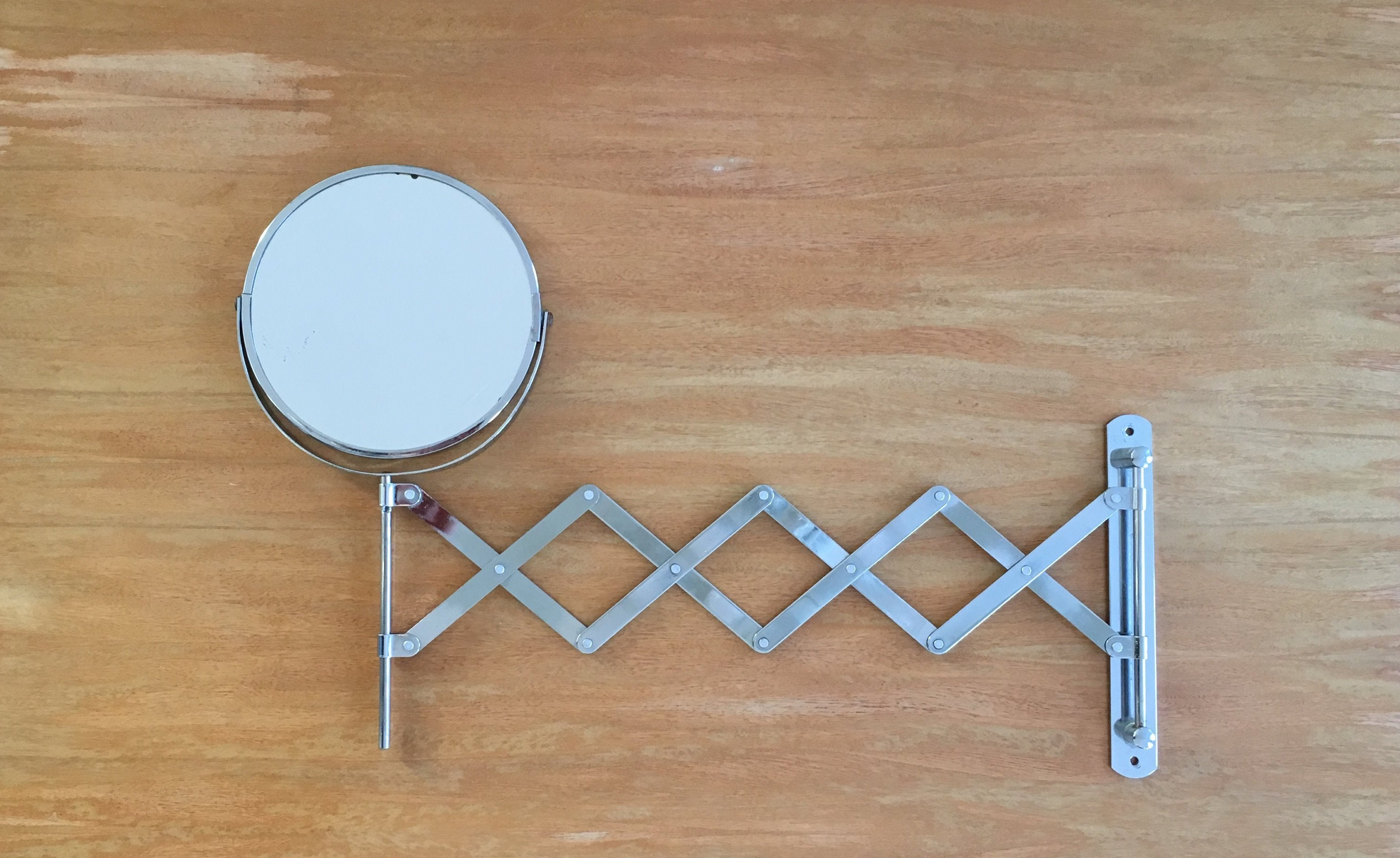 Accordion Wall Mirrors With Best And Newest Chrome Accordion Wall Mirror – Extension Arm Mirror – Makeup Mirror – Shaving Mirror – Flip Mirror – 2 Sided Mirror – Magnifying Mirror (View 2 of 20)