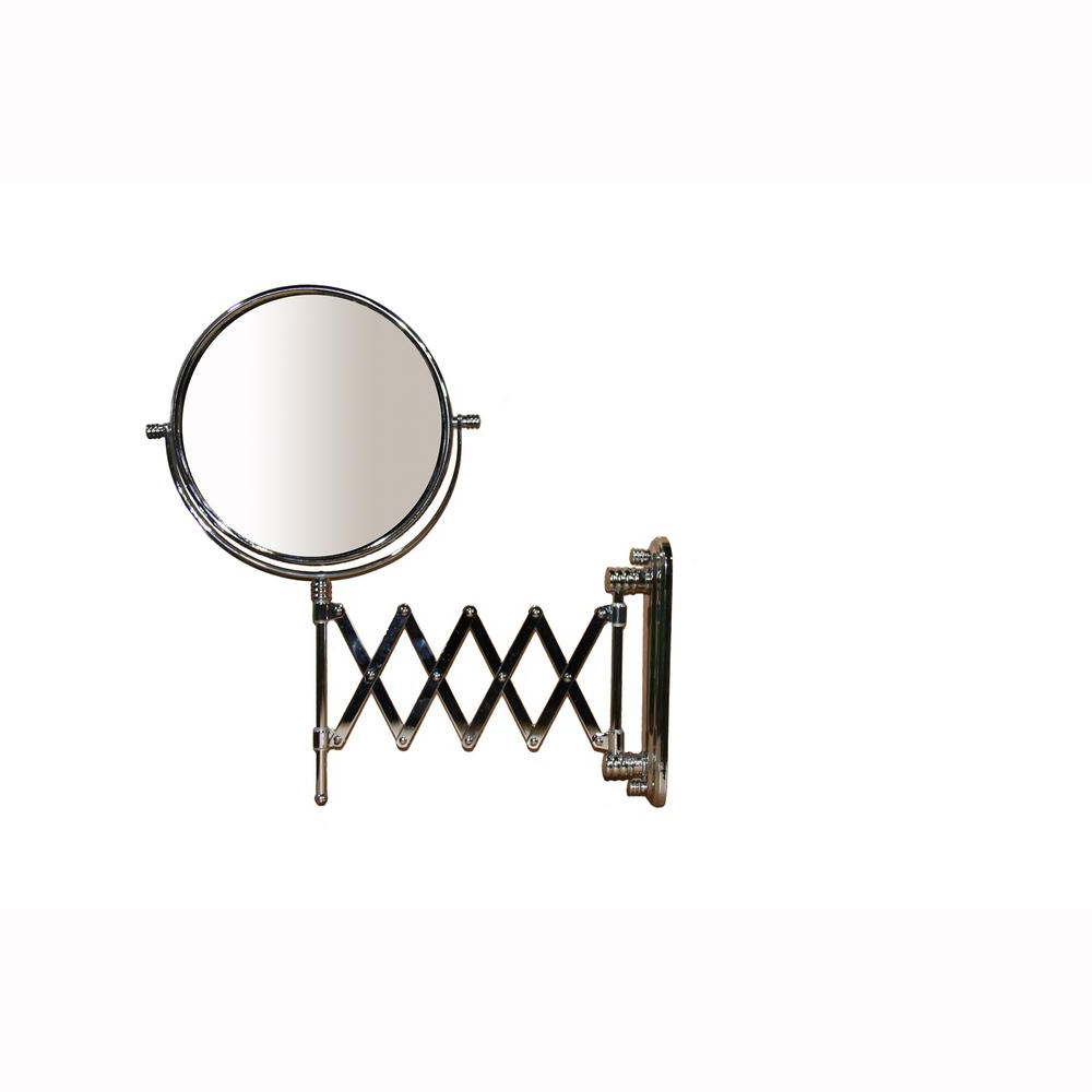 Accordion Wall Mirrors Within Newest Ore International 17.5 In. Accordion Round X5 Magnify Makeup Mirror (Gallery 1 of 20)