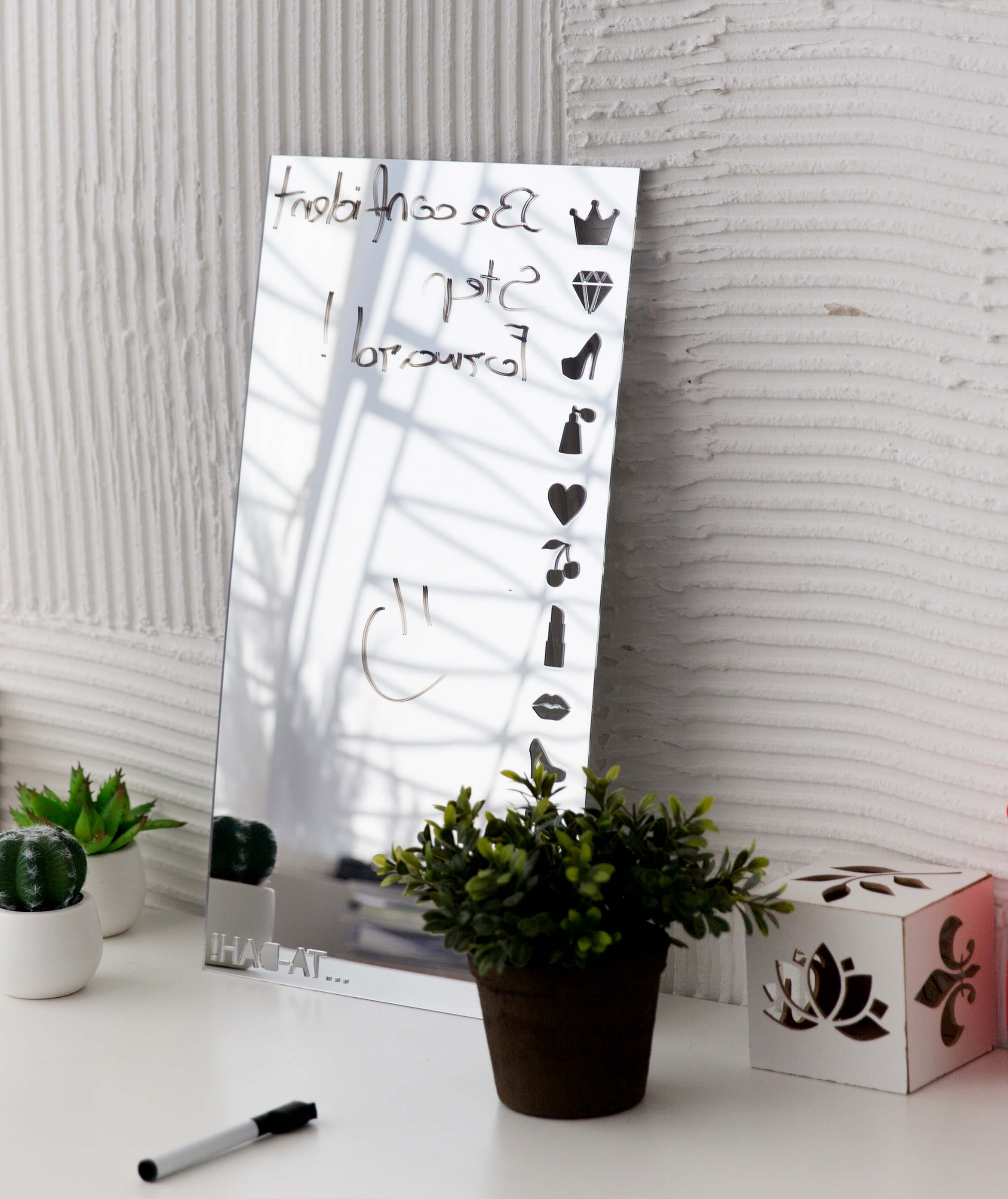Acrylic Wall Mirrors For Latest Acrylic Mirror Wall Sticker – Ta Dah! – 14.99€ (Gallery 7 of 20)