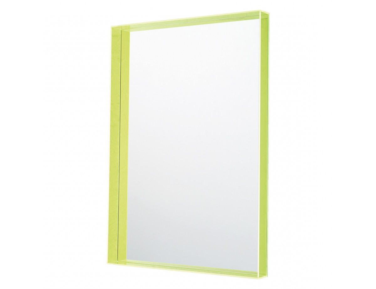 Acrylic Wall Mirrors In Popular Vento 50 X 70Cm Yellow Acrylic Wall Mirror (View 2 of 20)