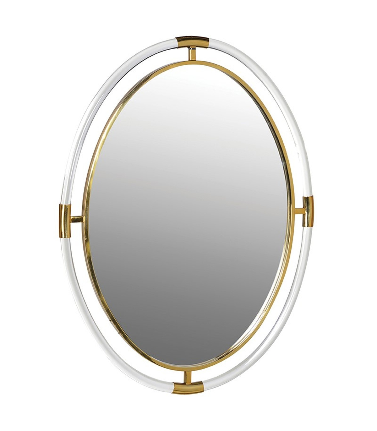Acrylic Wall Mirrors Intended For Newest Acrylic And Gold Oval Wall Mirror (Gallery 8 of 20)