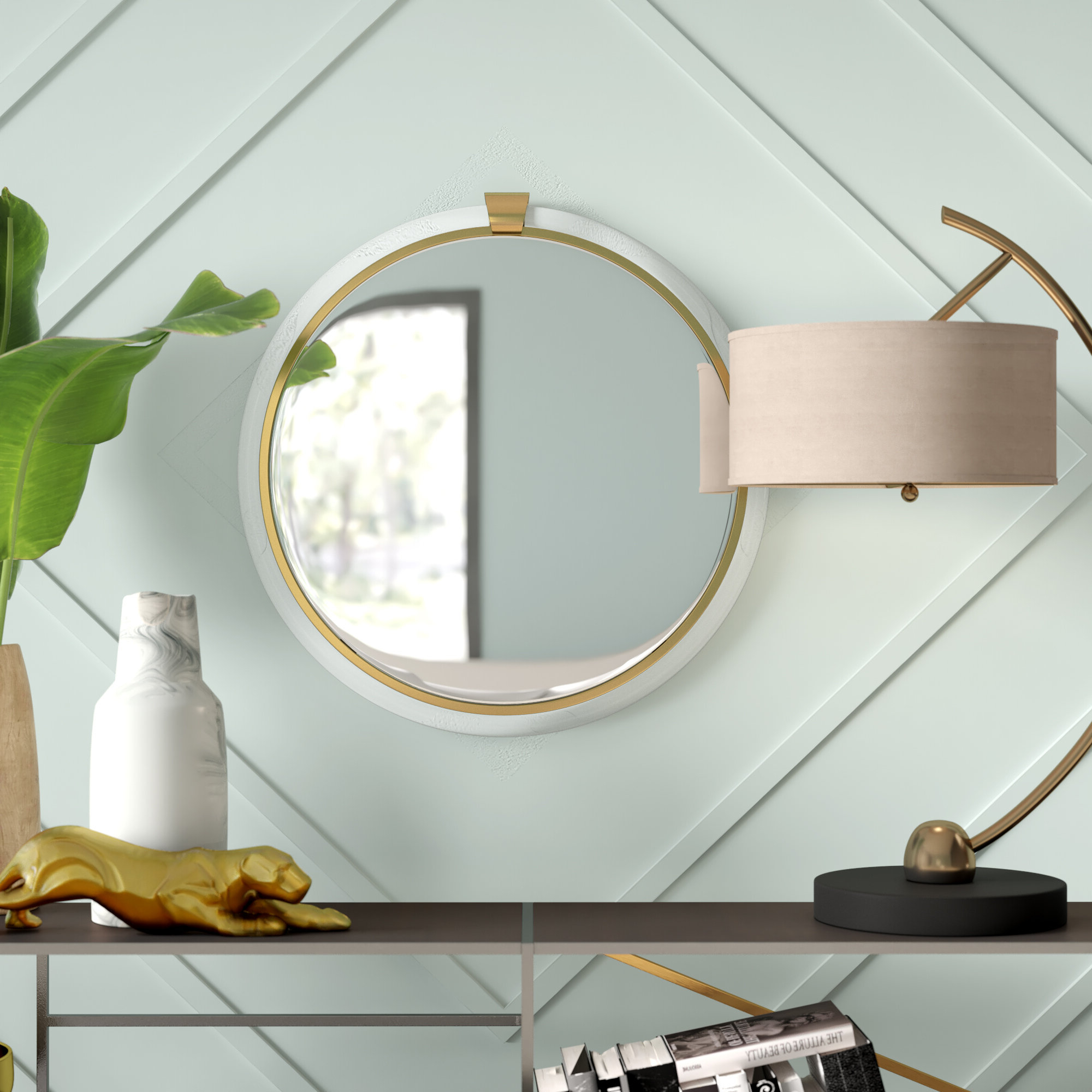 Acrylic Wall Mirrors With Regard To Most Recent Febus Round Acrylic Wall Accent Mirror (View 10 of 20)