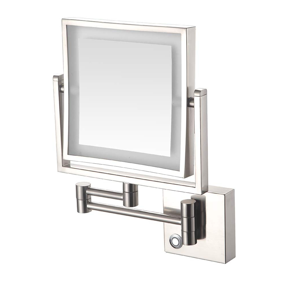 Adjustable Wall Mirrors Inside Current Amazon: 8 Inch Led Light Wall Mount Vanity Makeup Mirrors (View 4 of 20)