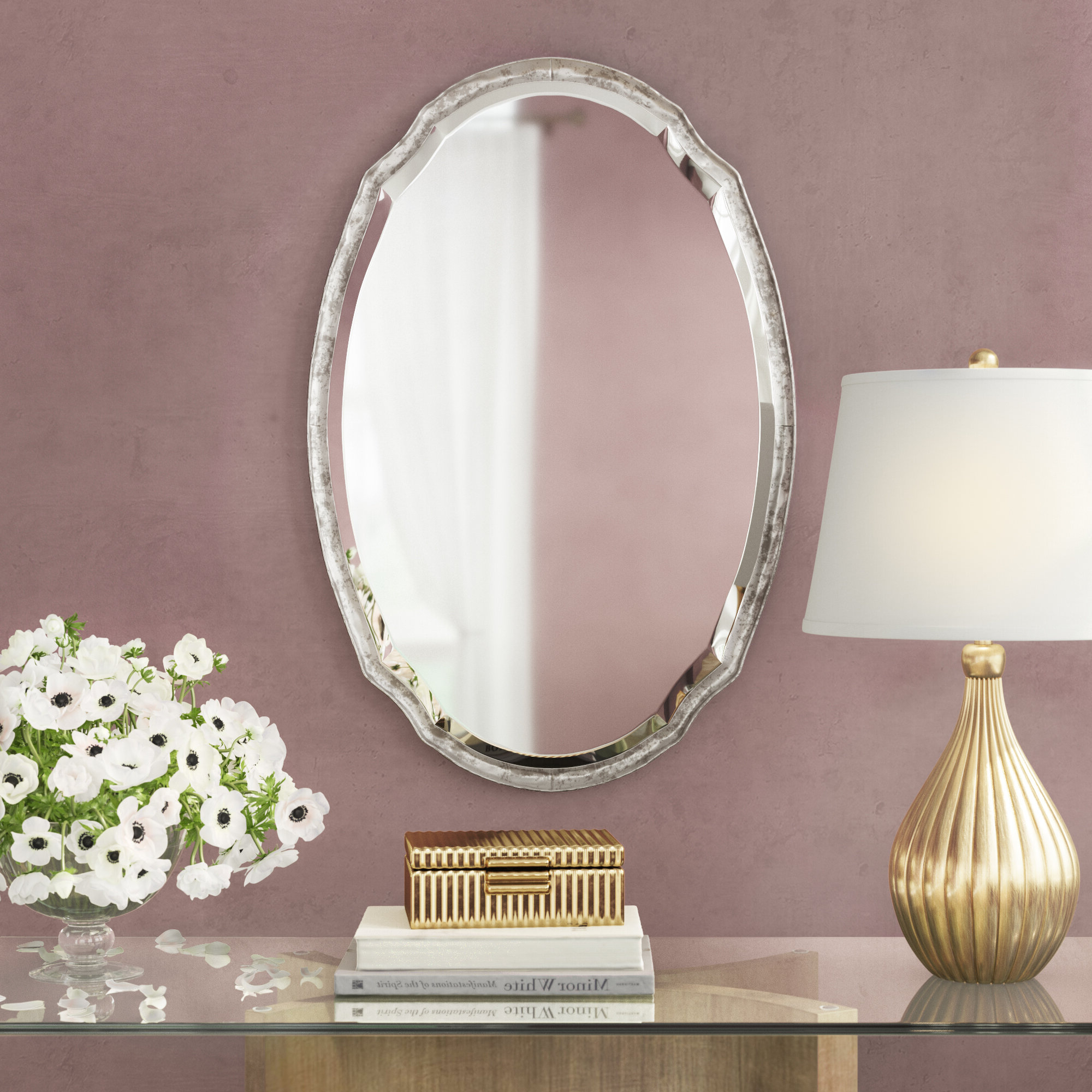 Aguirre Wall Mirror In Most Recently Released Sajish Oval Crystal Wall Mirrors (View 16 of 20)