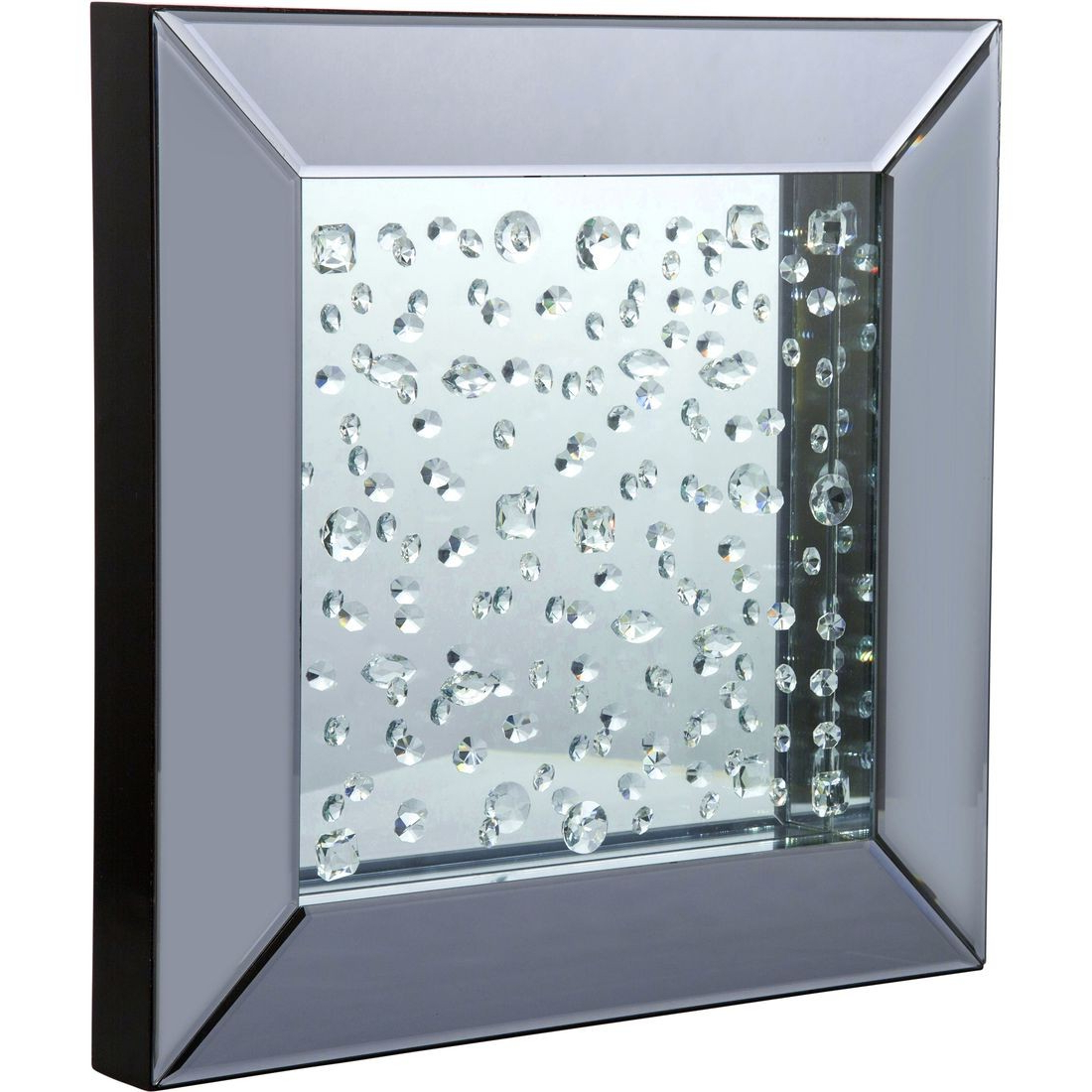 Aico Montreal Square Wall Mirror With Crystals Pertaining To Well Liked Wall Mirrors With Crystals (View 16 of 20)