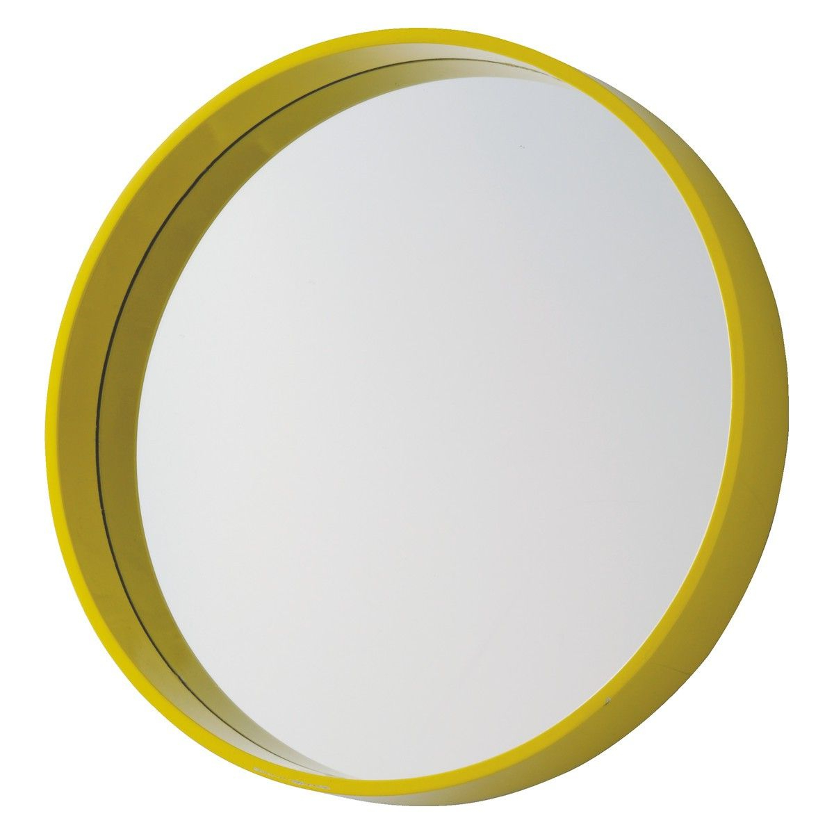 Aimee Yellow Round Wall Mirror D41Cm (View 3 of 20)