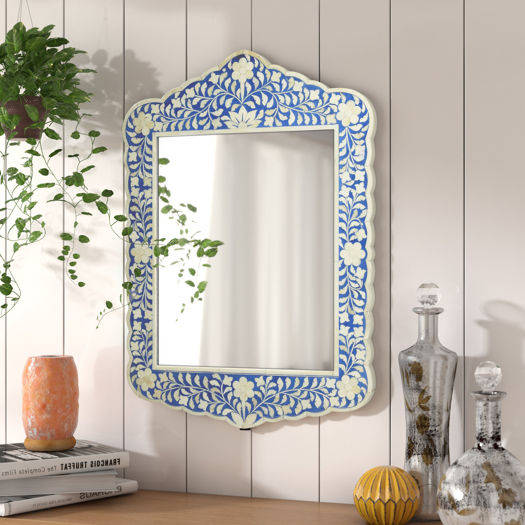 Alayna Botanic Bone Inlay Traditional Beveled Distressed Accent Mirror Within 2020 Traditional Beveled Accent Mirrors (View 12 of 20)