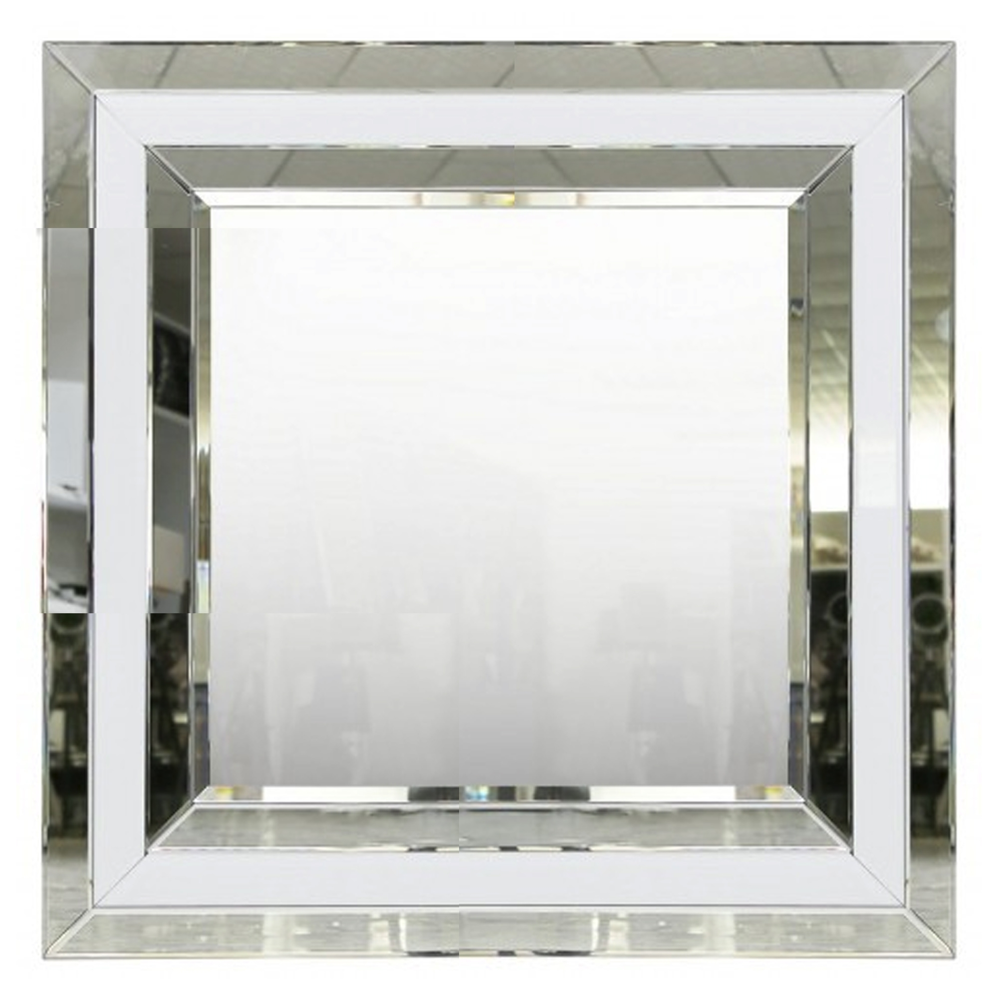 Alghero White Mirrored Square Wall Mirror Throughout Most Up To Date Wall Mirrors (View 7 of 20)