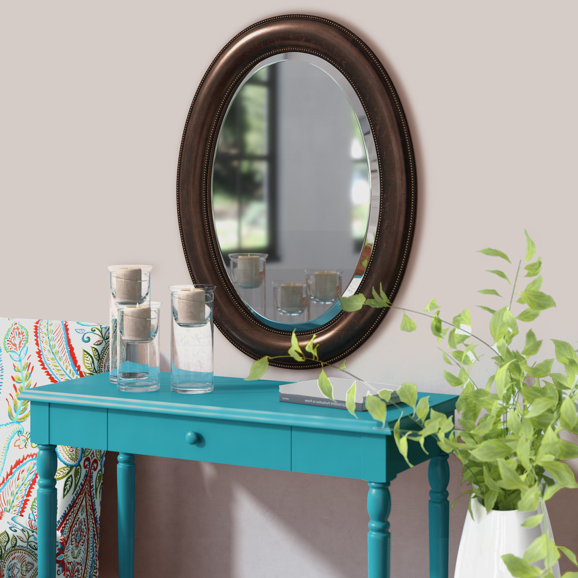 Alie Traditional Beveled Distressed Accent Mirrors For Preferred Traditional Beveled Distressed Accent Mirror (View 5 of 20)