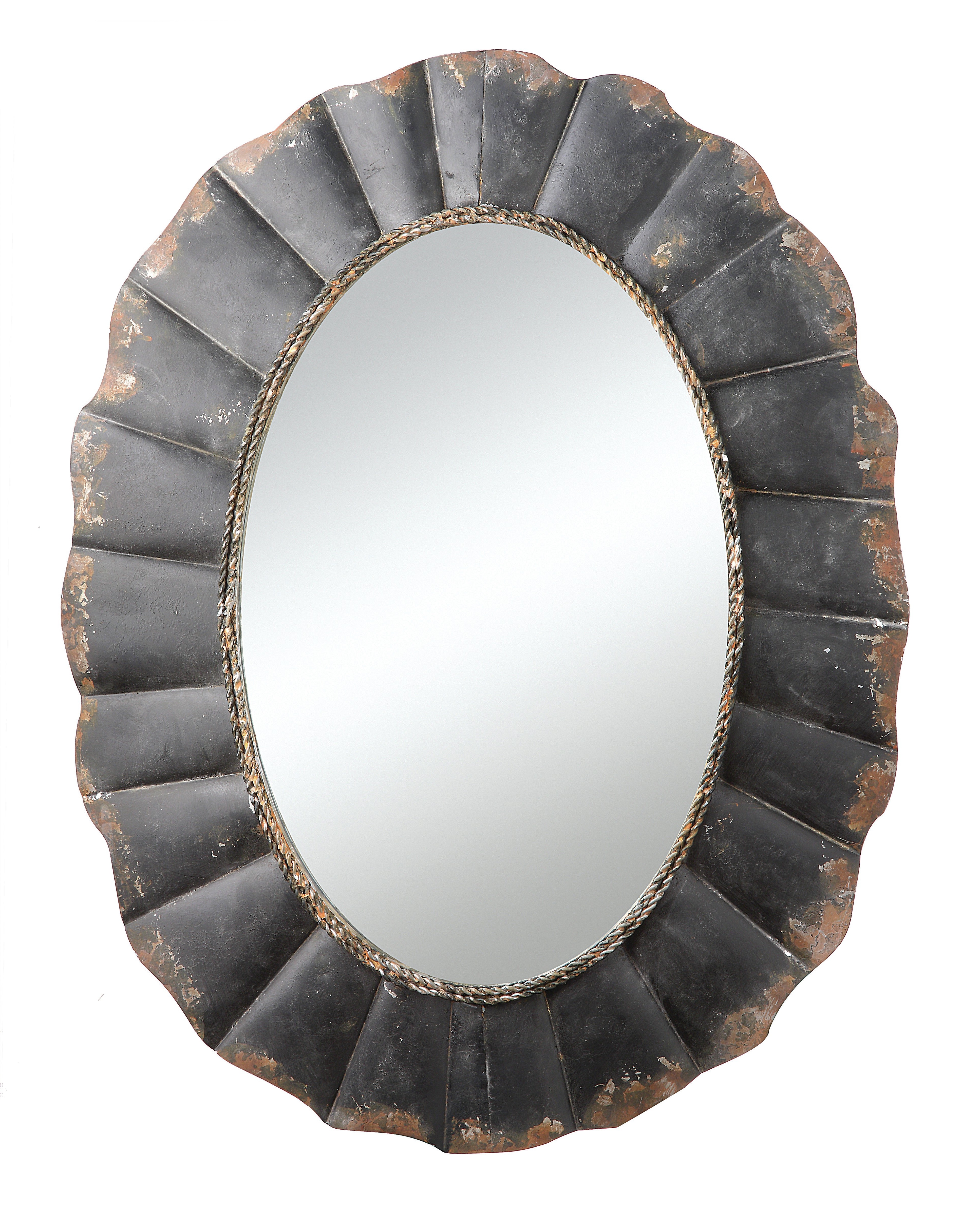 Alie Traditional Beveled Distressed Accent Mirrors With Favorite Rustic Distressd Accent Mirror (View 6 of 20)