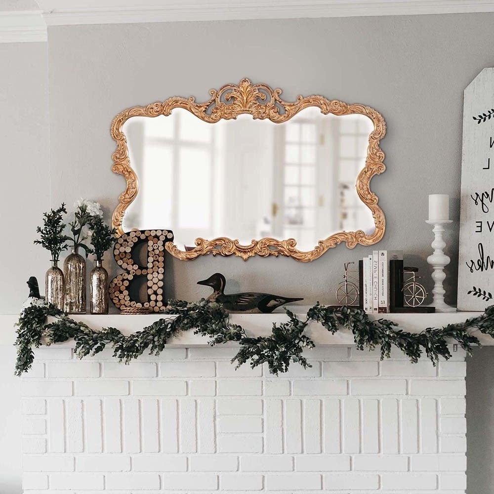 Allan Andrews Talida Gold Wall Mirror Throughout Preferred Talida Wall Mirrors (View 3 of 20)