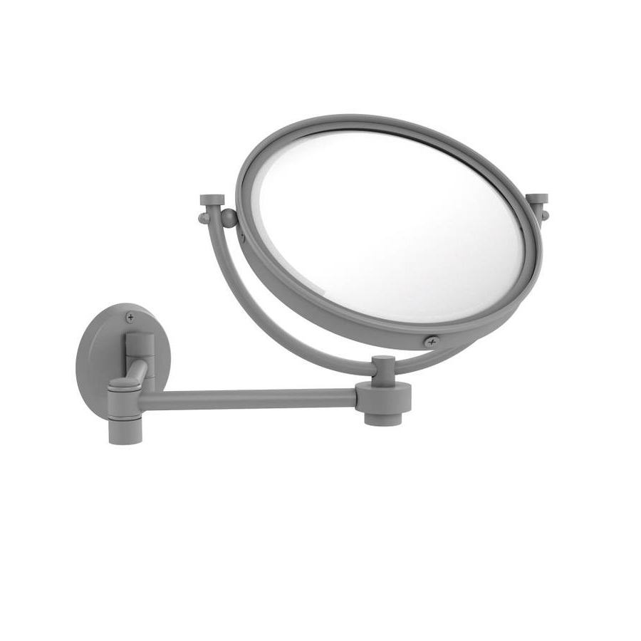 Allied Brass 8 In Wall Mounted Extending Make Up Mirror 5X With Regard To Most Popular Extending Wall Mirrors (Gallery 10 of 20)