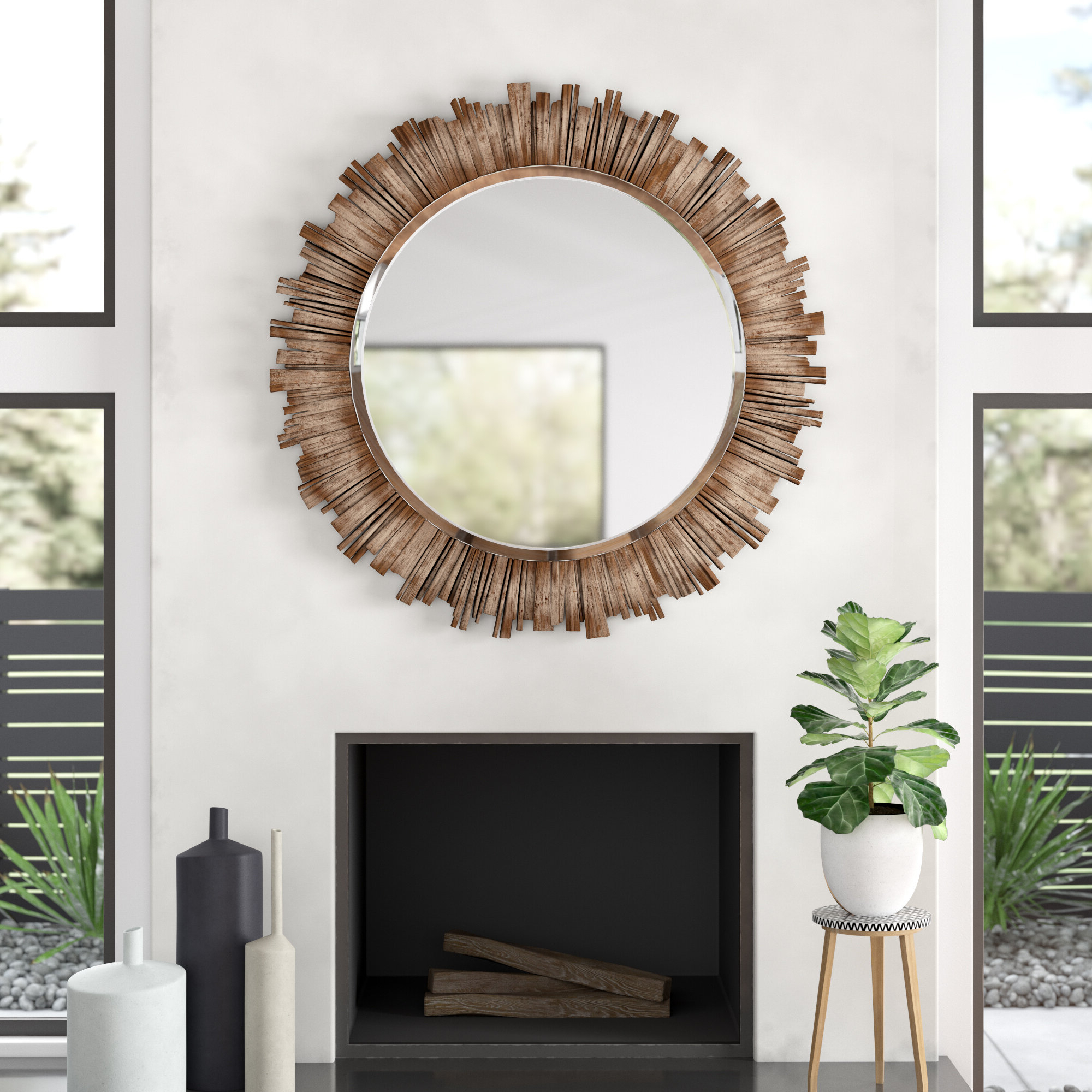 Allmodern Regarding Josephson Starburst Glam Beveled Accent Wall Mirrors (Gallery 10 of 20)