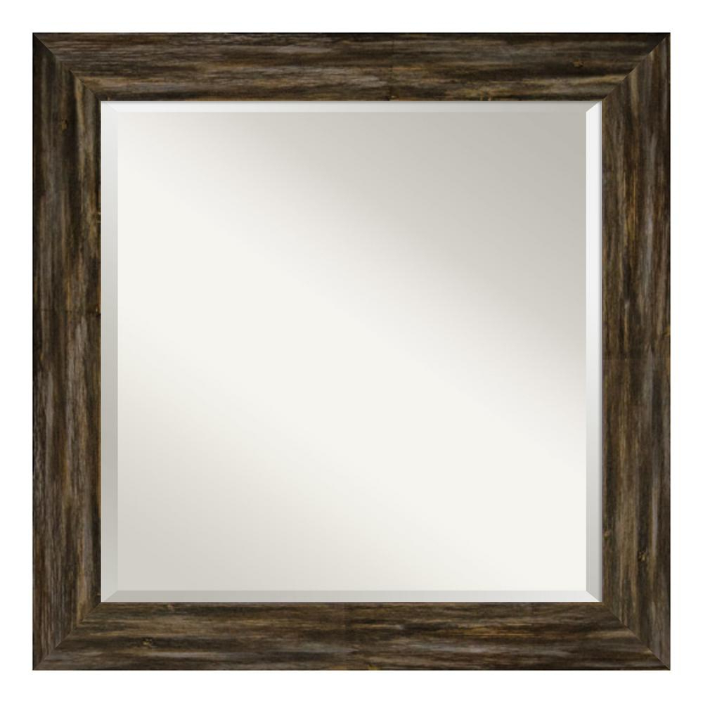 Amanti Art Fencepost Narrow Brown Decorative Wall Mirror Pertaining To Well Liked Narrow Wall Mirrors (View 8 of 20)