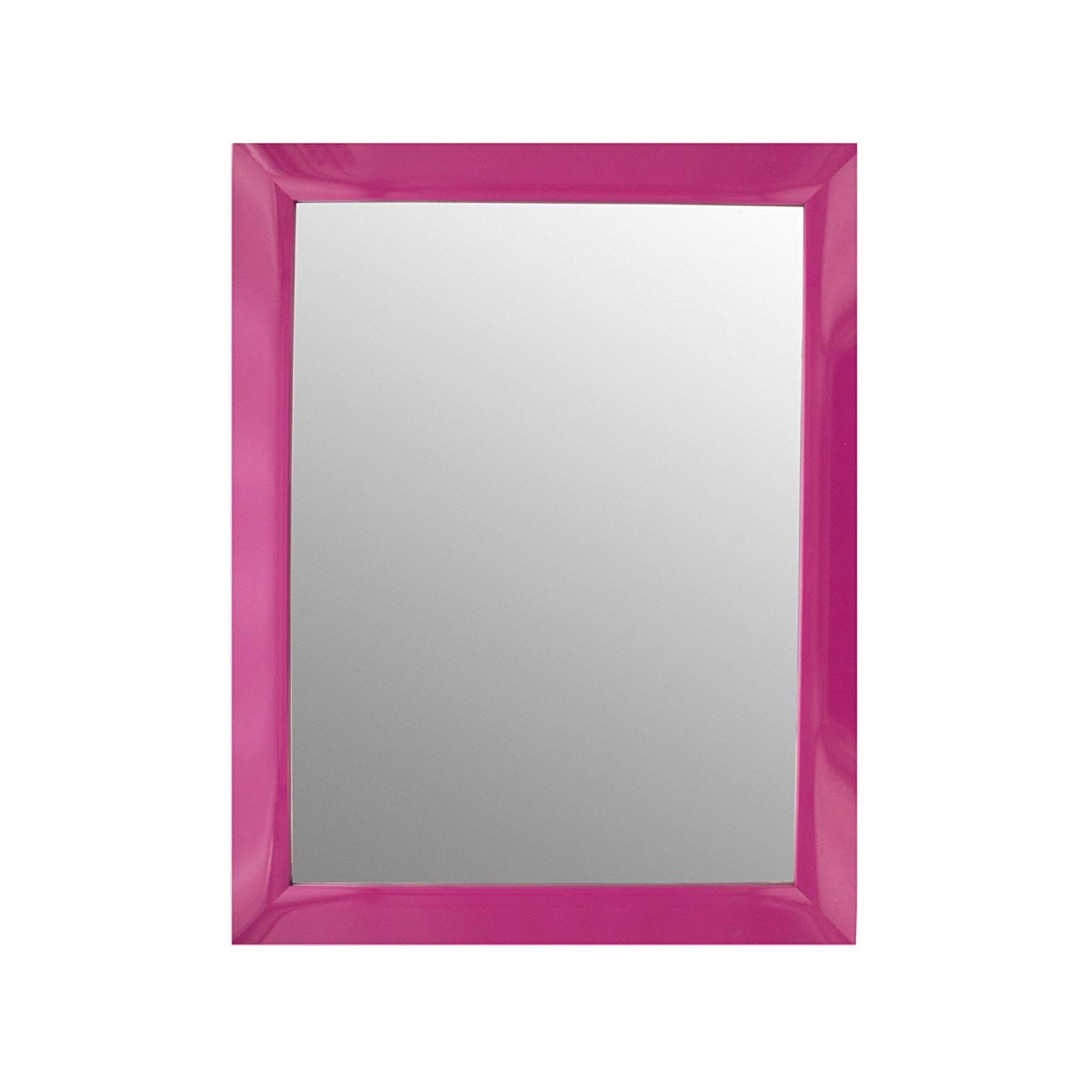 Amazon: 123 Wholesale – Set Of 6 Pink Rectangular Wall Mirror For Widely Used Pink Wall Mirrors (View 12 of 20)