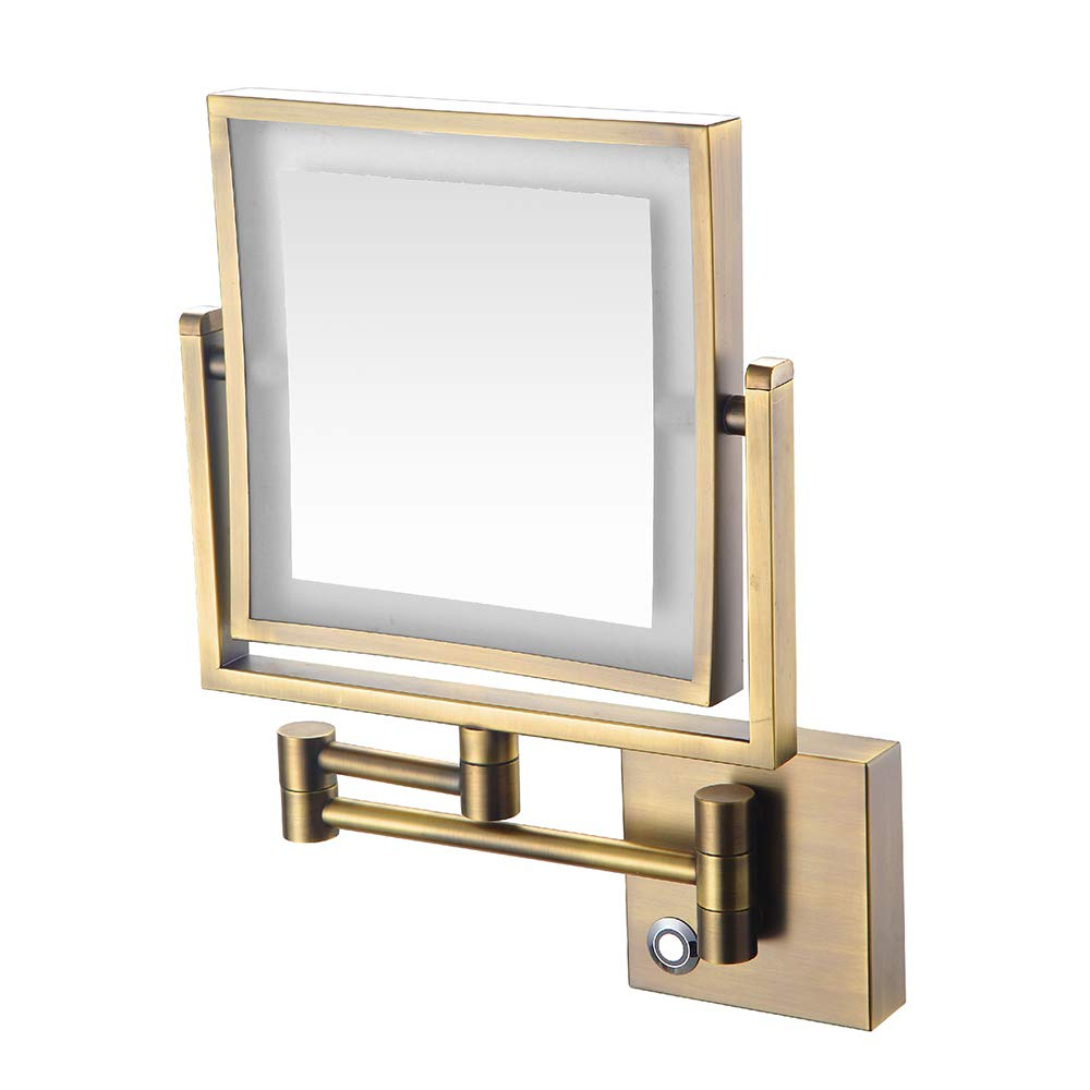 Amazon: 8 Inch Led Light Wall Mount Vanity Makeup Mirrors With Popular Adjustable Wall Mirrors (Gallery 14 of 20)