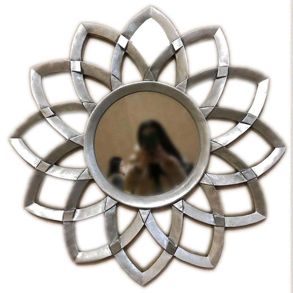 Amazon: Alus  Decorative Mirror European Resin Creative Art Sun In Preferred Bem Decorative Wall Mirrors (View 14 of 20)
