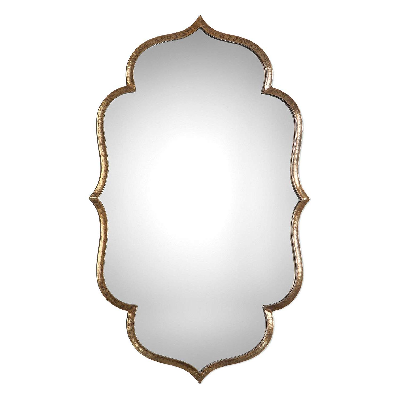 Amazon: Arabesque Quatrefoil Gold Wall Mirror (Gallery 2 of 20)