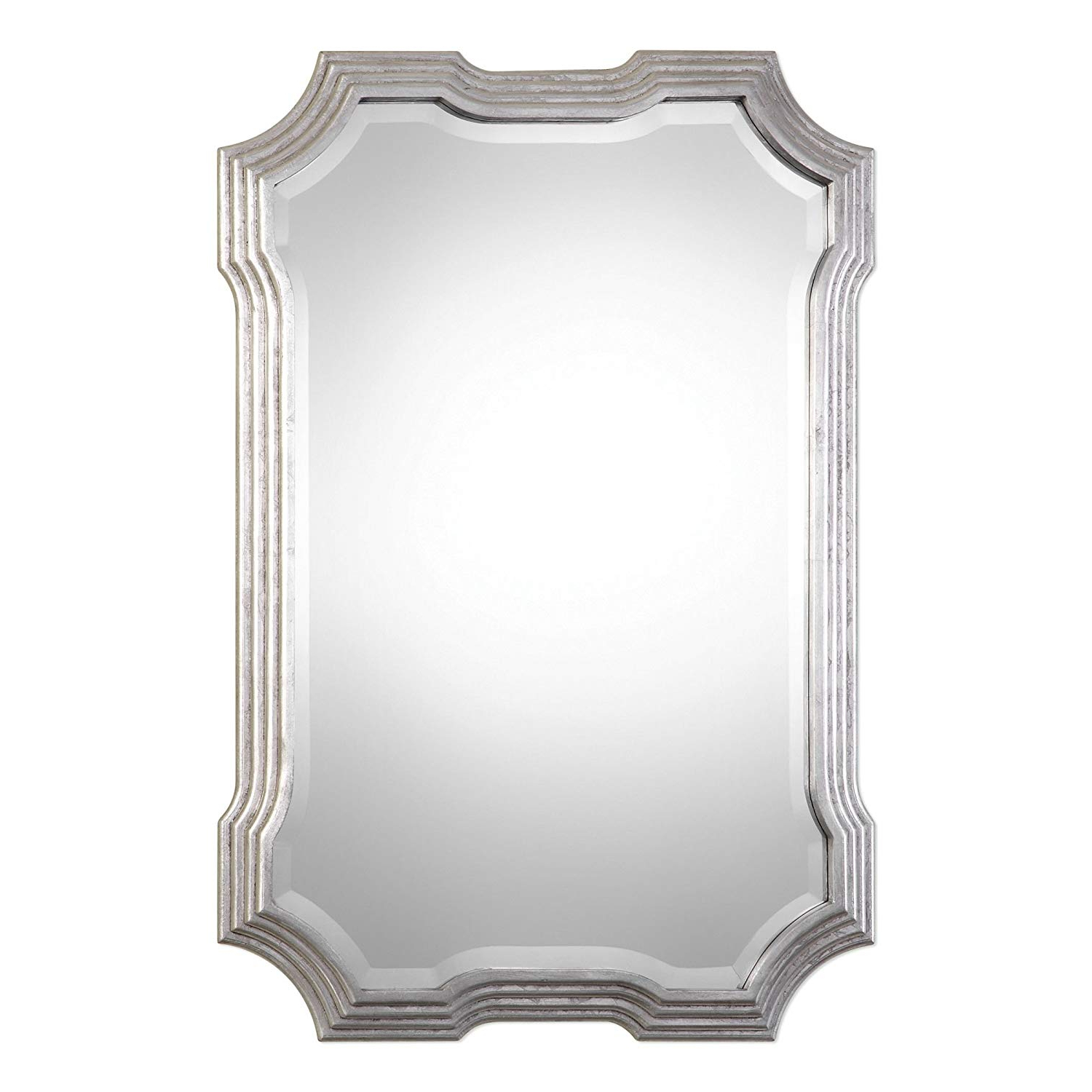 Amazon: Art Deco Silver Curves Wall Mirror (View 5 of 20)