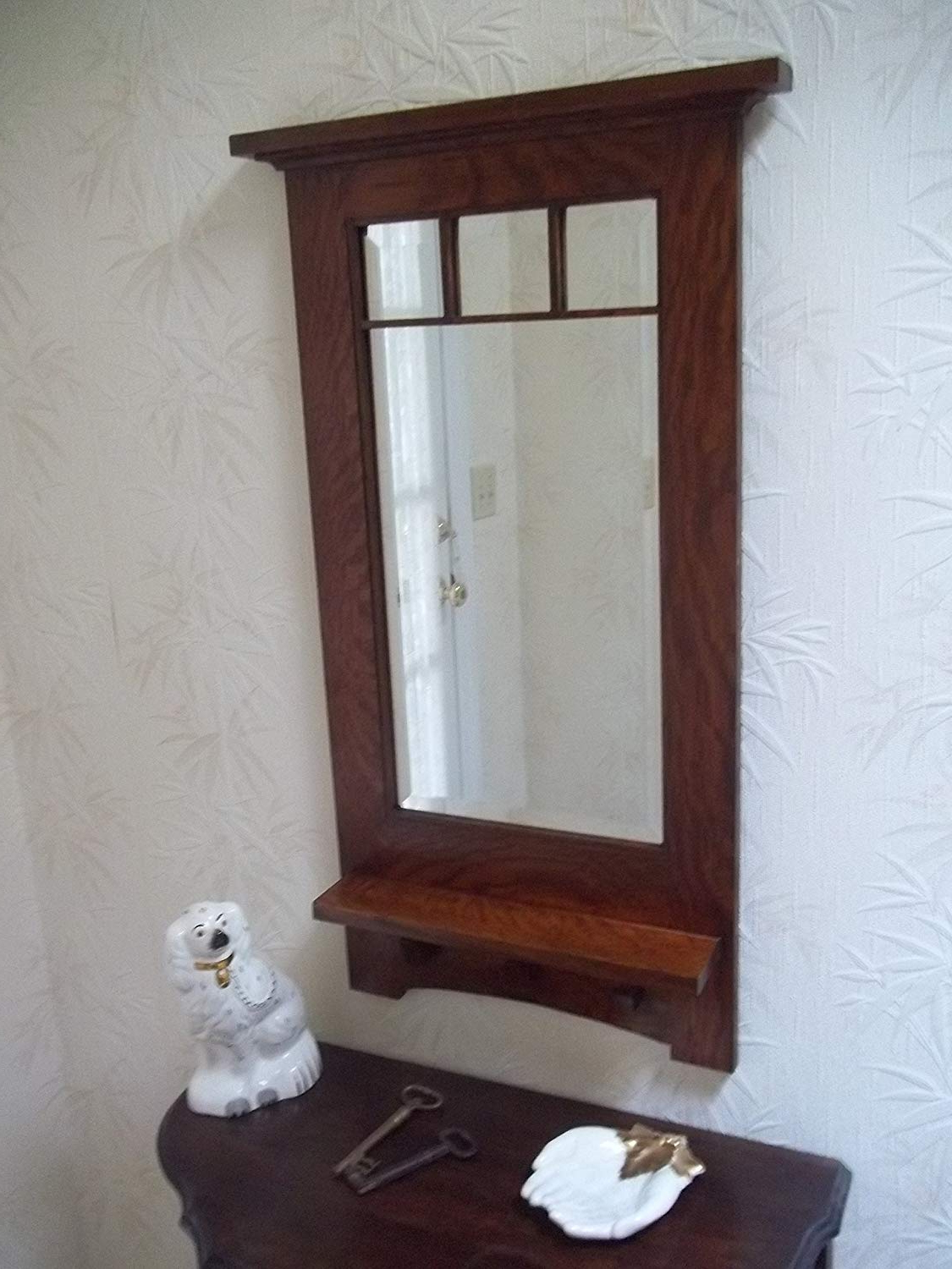 "Amazon: Arts & Crafts ""craftsman Style"" Hanging Wall Throughout Recent Mission Style Wall Mirrors (Gallery 3 of 20)"