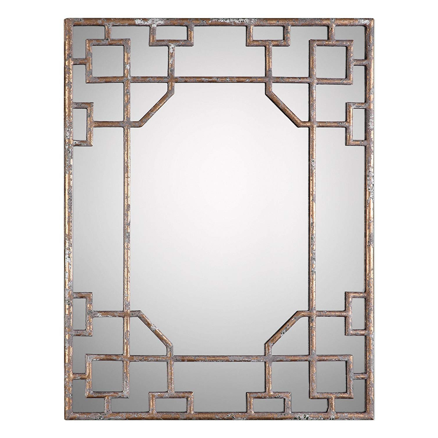Amazon: Asian Fretwork Overlay Wall Mirror (View 14 of 20)