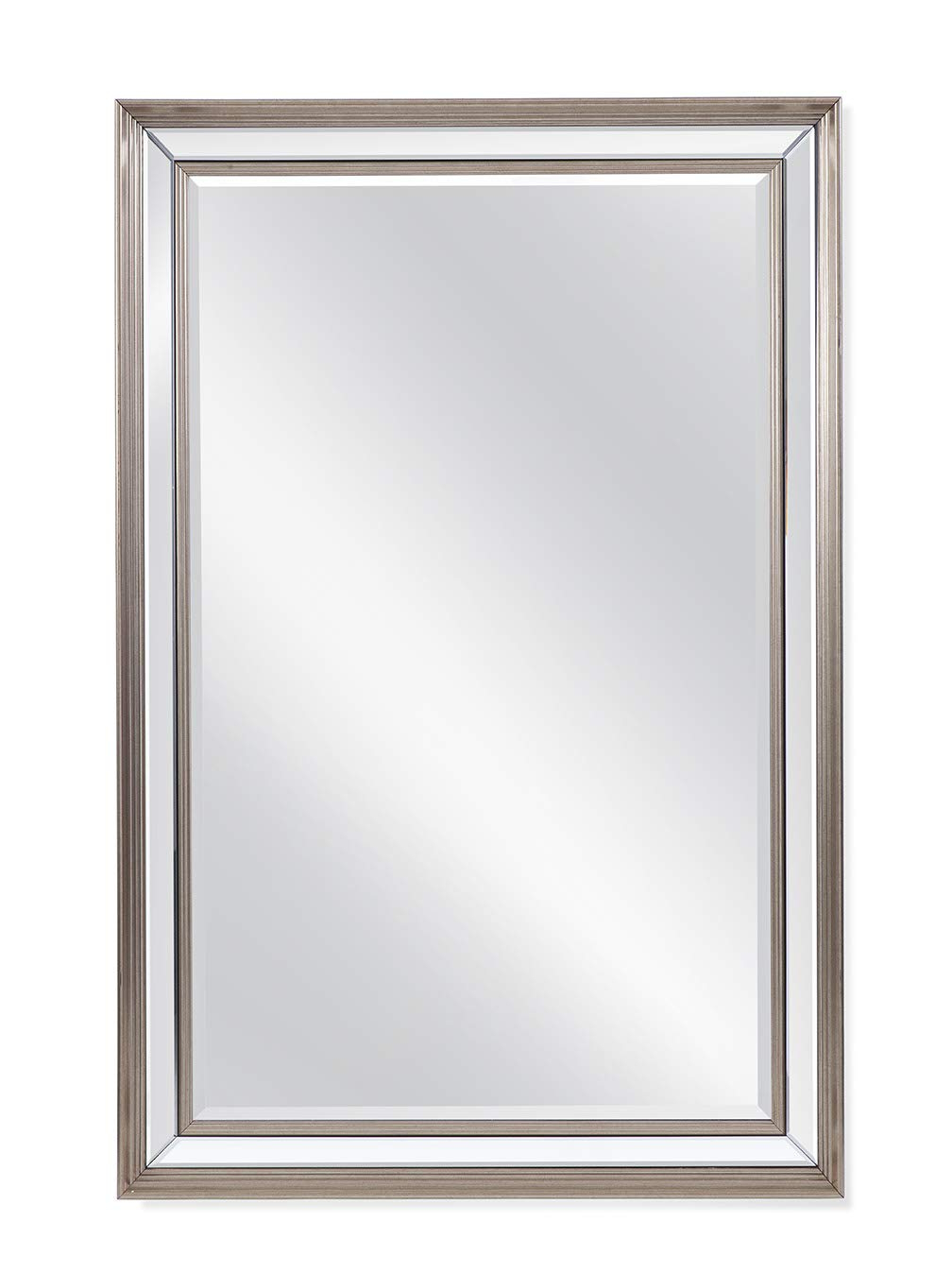 Amazon: Bassett Mirror Wall Mirror In Silver Finish M4299b: Home Throughout Most Recently Released Bassett Wall Mirrors (View 3 of 20)