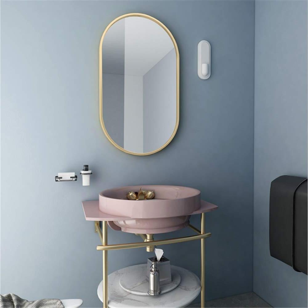 Amazon: Bedroom Bathroom Frame Wall Mirror Oval Shape Inside Famous Frame Bathroom Wall Mirrors (View 20 of 20)