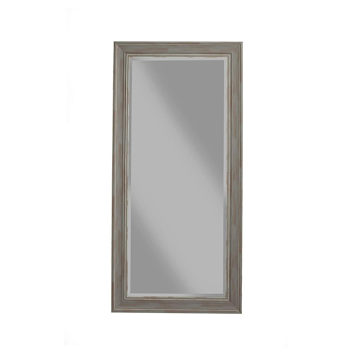 Amazon: Benzara Bm178074 Full Length Leaner Mirror With Within Current Rectangle Antique Galvanized Metal Accent Mirrors (View 4 of 20)