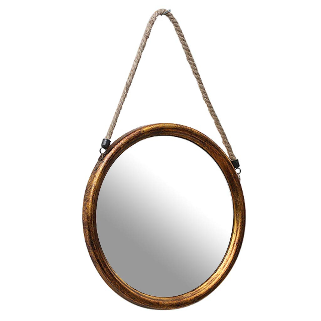 Amazon: Contemporary 13″ Wall Mirror Round Glass Panel Framed Regarding Most Recently Released Vertical Round Wall Mirrors (View 9 of 20)