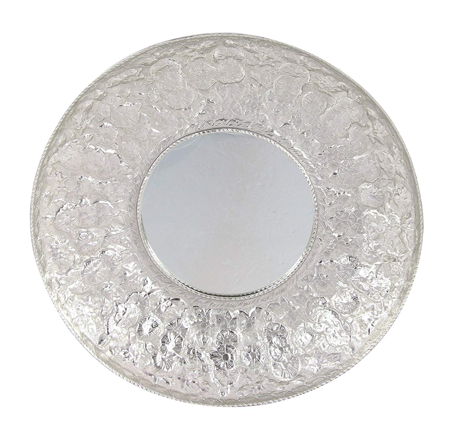 Amazon: Deco 79 53941 Aluminum Concave Wall Mirror Silver: Home Throughout Widely Used Concave Wall Mirrors (View 15 of 20)