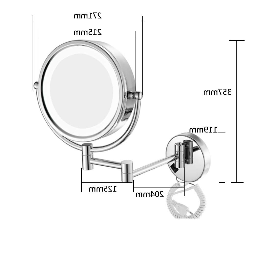 Amazon: Double Sided Folding Wall Mirror 8 Inch 3 Times With 2019 Folding Wall Mirrors (View 3 of 20)
