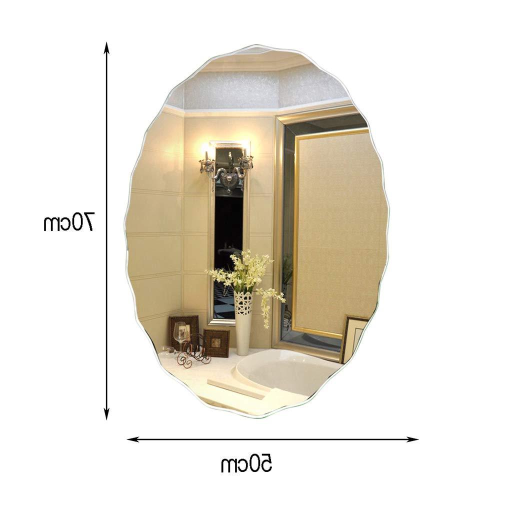 Amazon: European Bathroom Mirror, Creative Simple Wavy Side In Popular Wavy Wall Mirrors (View 15 of 20)
