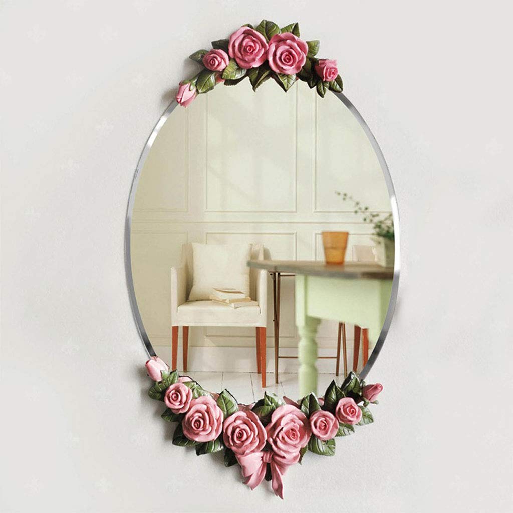 Amazon – European Style Bathroom Mirror Waterproof Bathroom Within 2019 Flower Wall Mirrors (View 2 of 20)