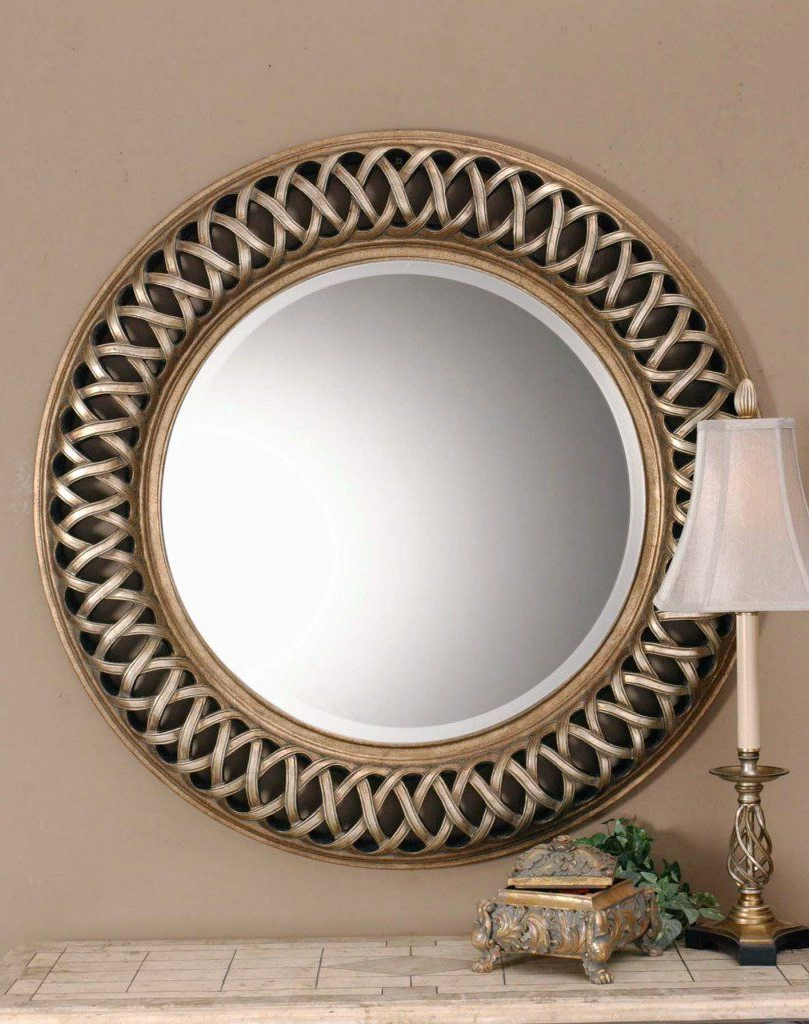 Amazon – Extra Large Celtic Knot Round Wall Mirror Silver Gold With Regard To Newest Knott Modern & Contemporary Accent Mirrors (View 8 of 20)