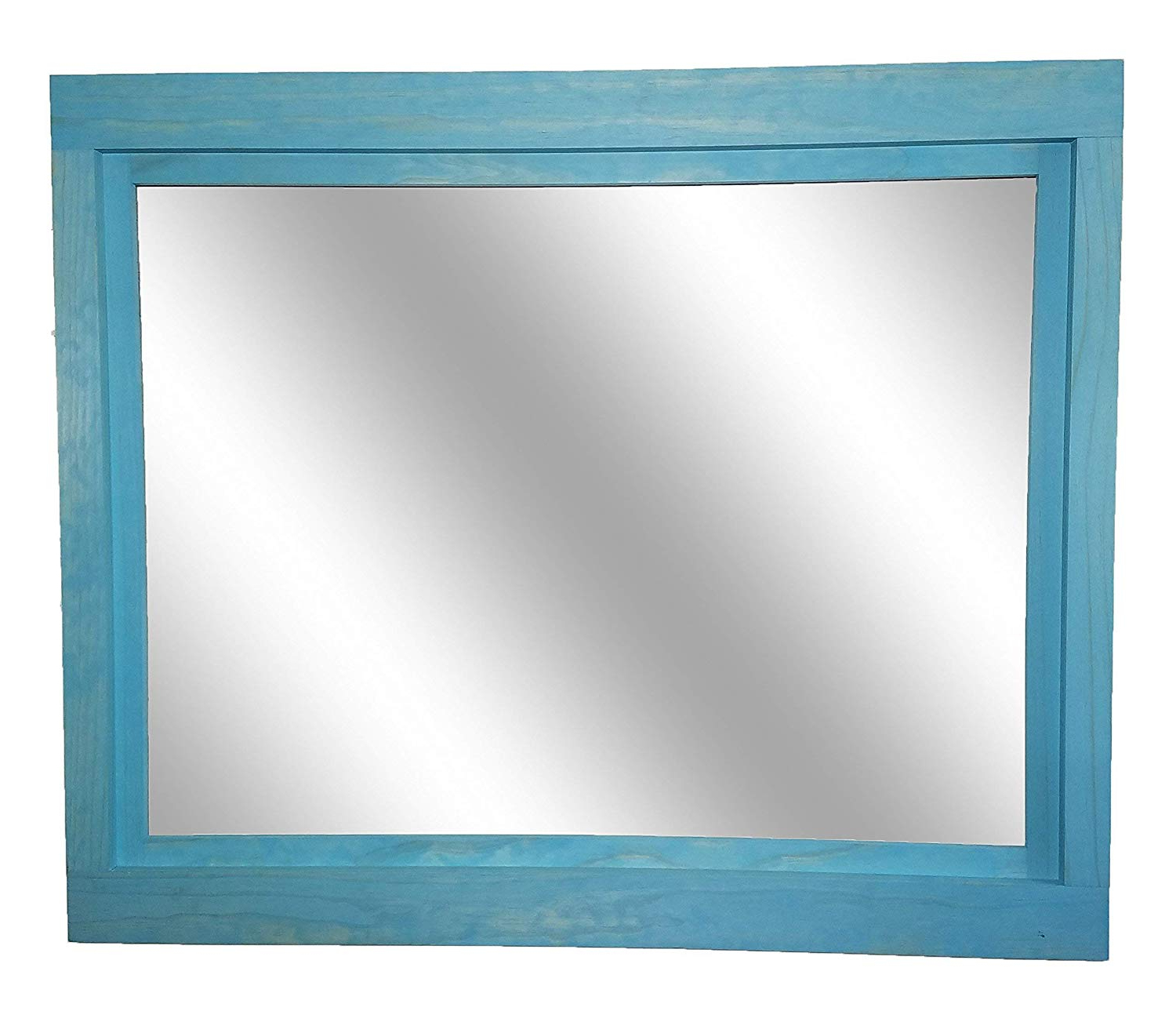 Amazon: Farmhouse Large Framed Mirror Available In 5 Sizes And With Most Popular Aqua Wall Mirrors (View 16 of 20)
