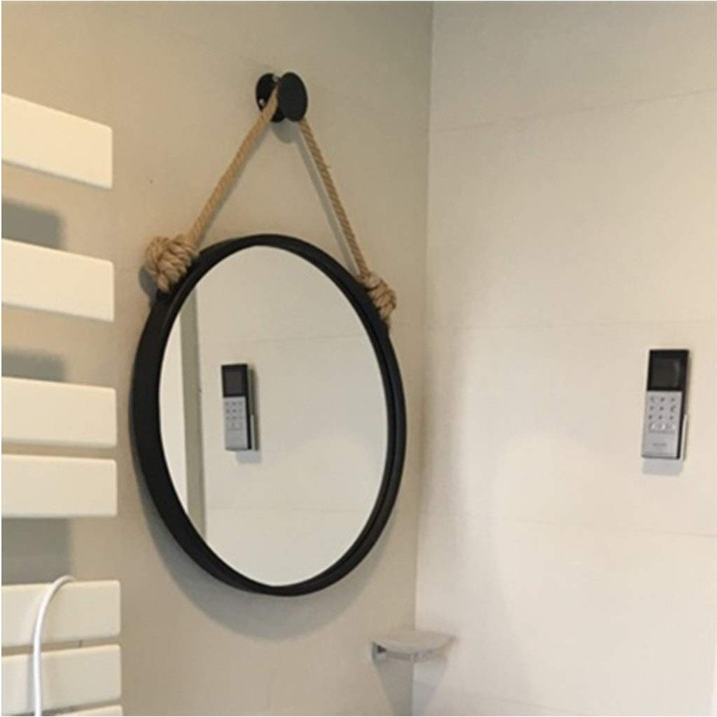 Amazon: Gjh Mirror Simple Nordic Wrought Iron Wall With Regard To Most Popular Wrought Iron Wall Mirrors (View 17 of 20)