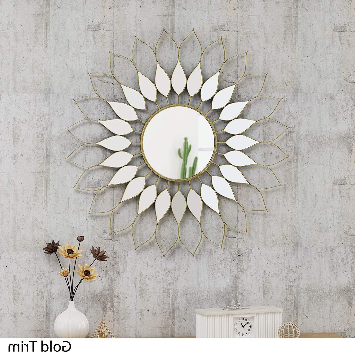 Amazon: Great Deal Furniture 305149 Evan Glam Flower Wall Mirror With 2020 Flower Wall Mirrors (View 3 of 20)