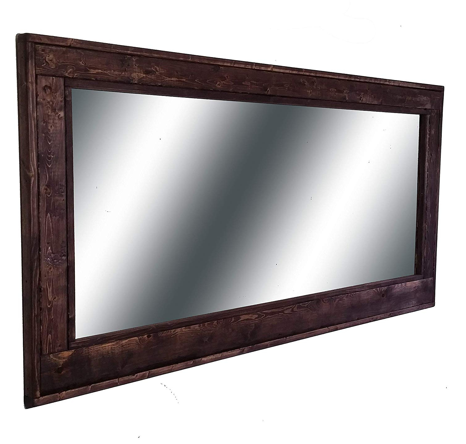 Amazon: Herringbone Large Mirror 60 X 30 Double Vanity Pertaining To Best And Newest Red Framed Wall Mirrors (View 17 of 20)