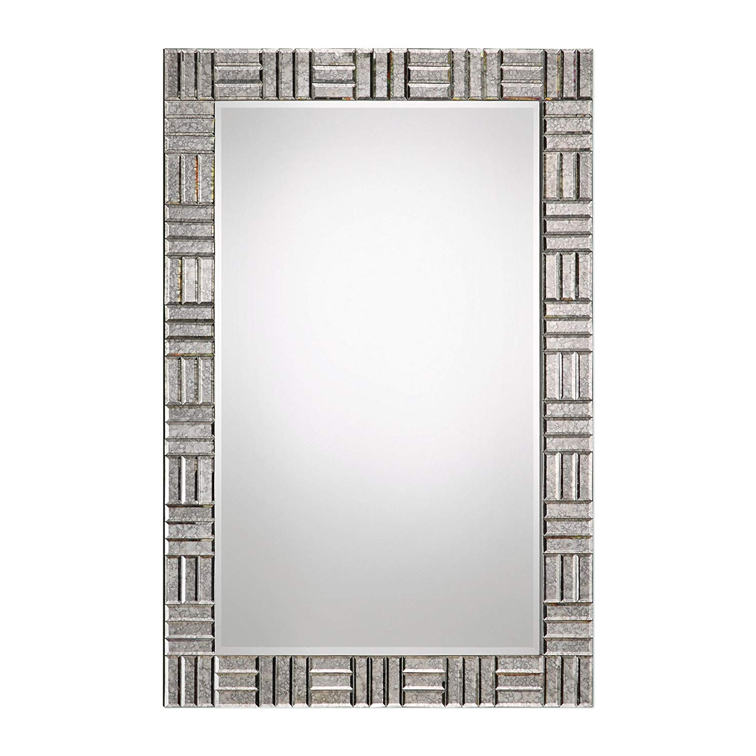 Amazon: Mid Century Modern Mirror Framed Wall Mirror In 2020 Geometric Wall Mirrors (View 13 of 20)