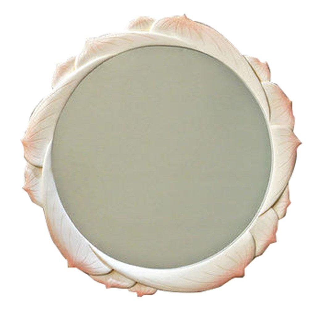 Amazon: Mirror Round Wall Mirror White Decorative Mirror Pertaining To Current White Round Wall Mirrors (View 10 of 20)