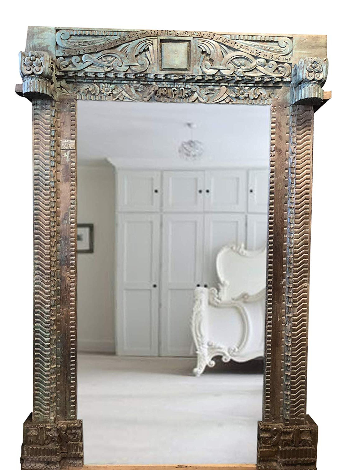 Amazon: Mogul Interior Huge Antique Floor Mirror, Wall Mirror Intended For Latest Beautiful Wall Mirrors (View 4 of 20)