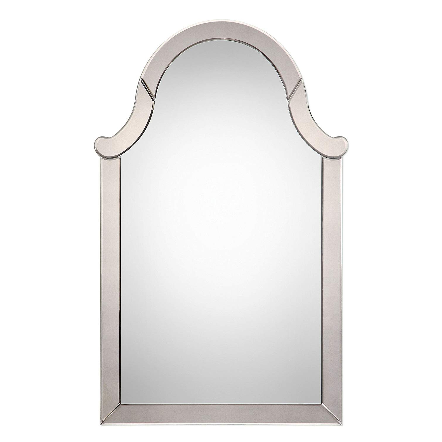 Amazon: My Swanky Home Frameless Arch Venetian Wall Mirror Inside Best And Newest Venetian Wall Mirrors (View 16 of 20)