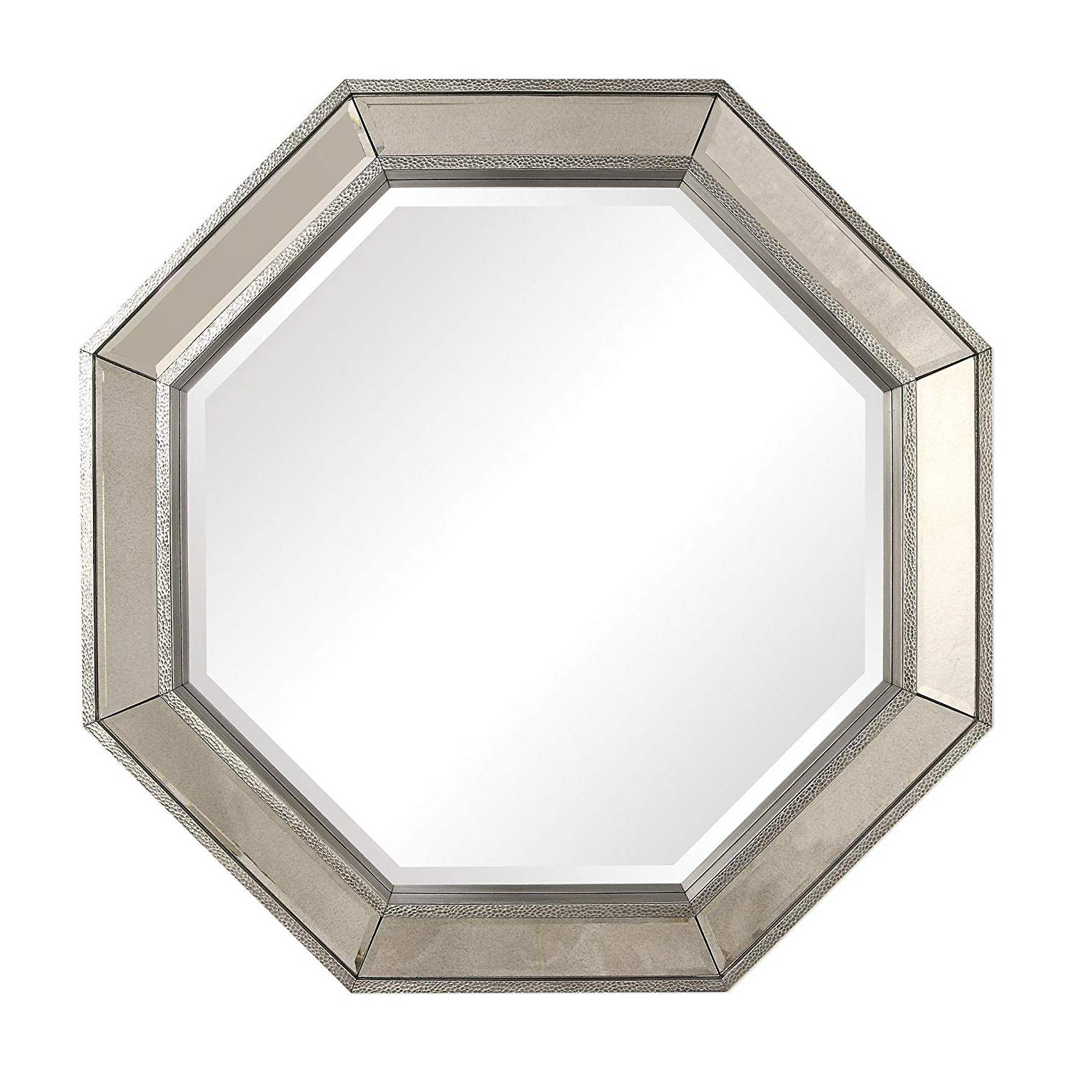 Amazon: My Swanky Home Glam Octagon Silver Mirror Framed Wall For Well Liked Octagon Wall Mirrors (View 19 of 20)